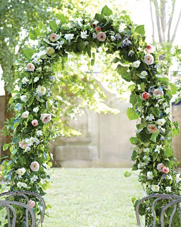 Decorating Arches for a Wedding