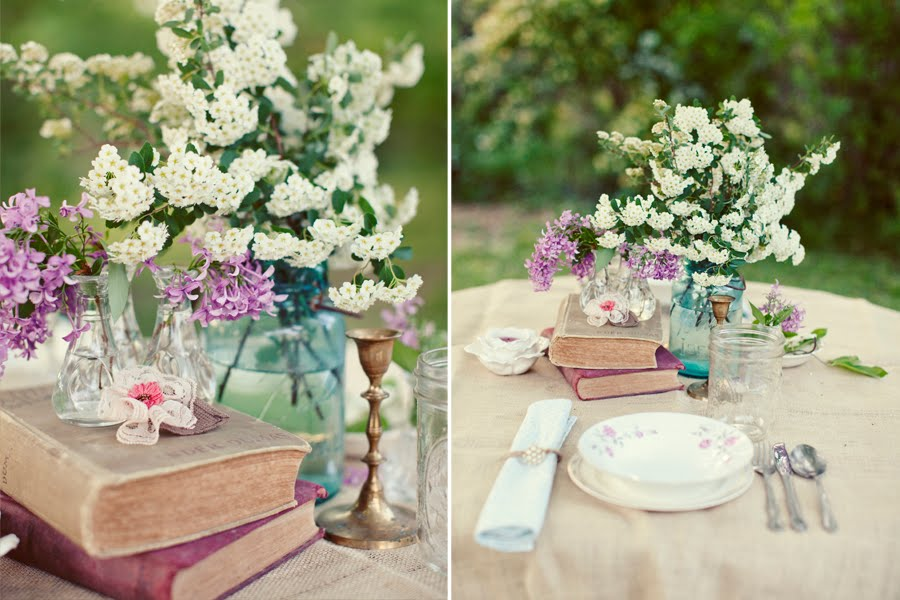 Diy centerpiece ideas toledo wedding planner for Antique books for decoration