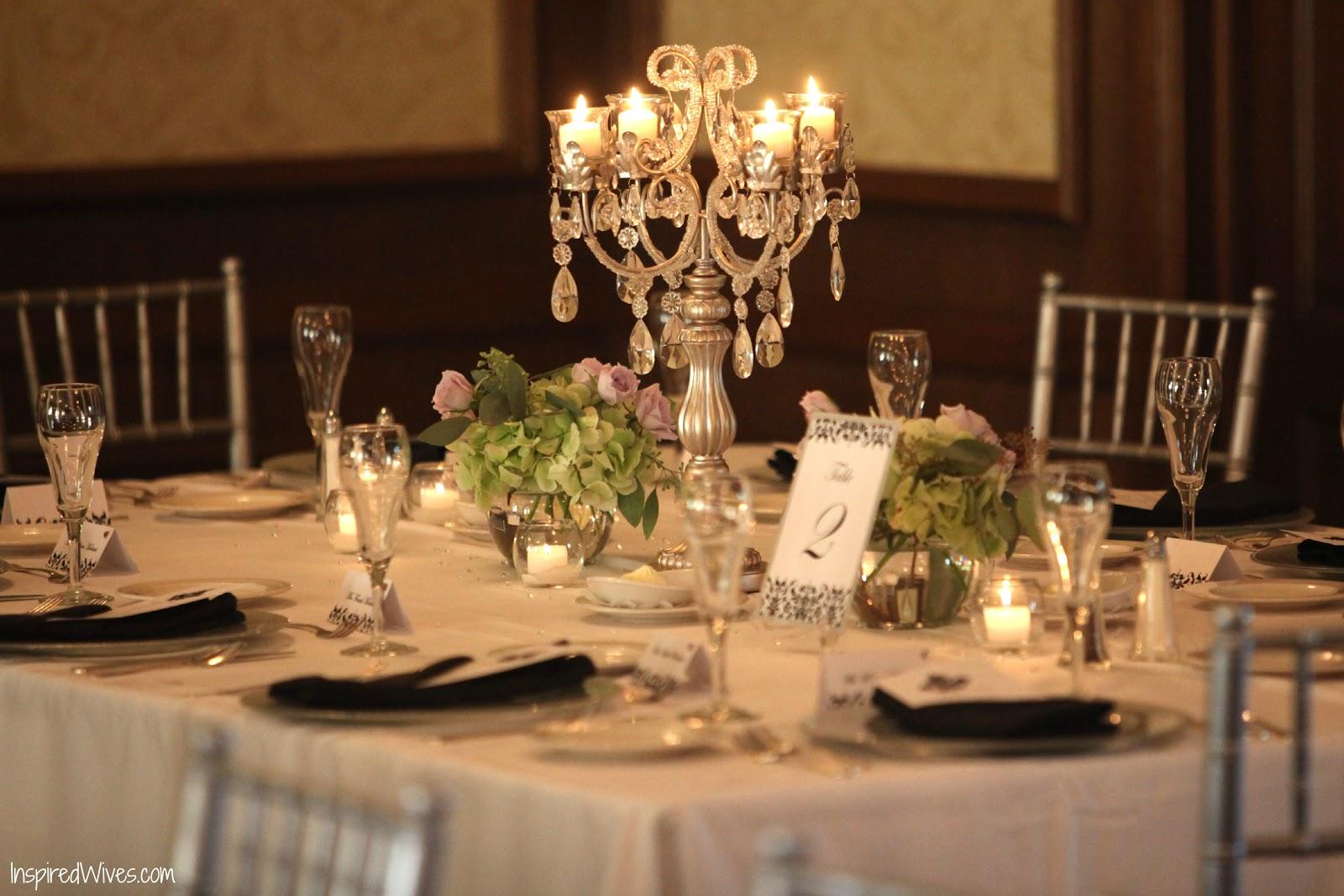 Candlestick centerpieces toledo wedding planner