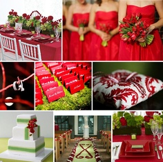 A Red Color Scheme Is Classic And Timeless For Wedding Very Simple But So Much Can Be Done It Also Versatile Used Weddings