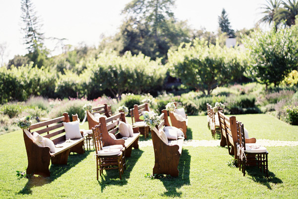 Brown Chairs Outdoor Ceremony Decorations: Wedding Decor, Chair Covers & Sashes