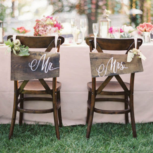 Wedding Sweetheart Table Chair Decor 6